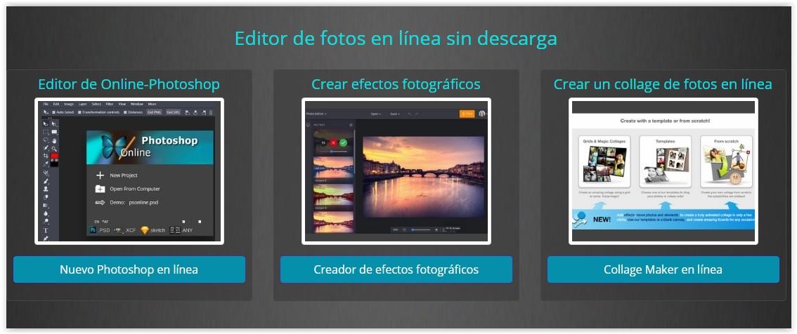 Photoshop  en  línea  gratis